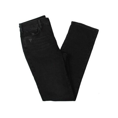 NYDJ Womens Marilyn Straight Leg Jeans Distressed Straight