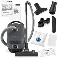 Miele Classic C1 Pure Suction Canister Vacuum Cleaner + SBD285-3 Rug & Floor Tool + Crevice Tool + Upholestry Tool + Dust Brush