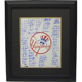 Bobby Richardson signed New York Yankees 16x20 Photo Custom Framed Top Hat Logo with 70 signatures