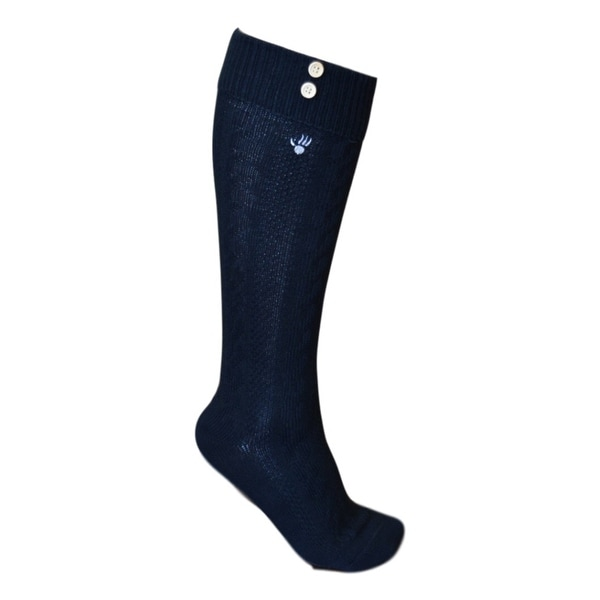 Bearpaw Fashion Socks Womens Cuffed Knee High Buttons - One size