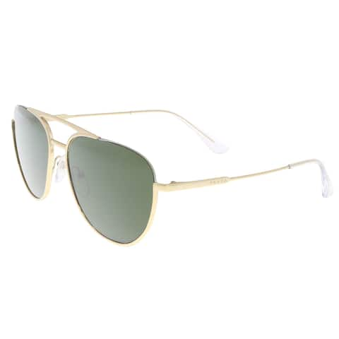 96013c534de Prada PR 50US 5AK1I0 Gold Aviator Sunglasses - 56-17-140