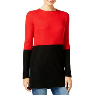Vince Camuto Womens Pullover Sweater Colorblock Knit