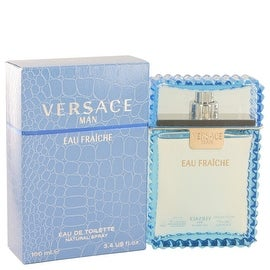 Versace Man by Versace Eau Fraiche Eau De Toilette Spray (Blue) 3.4 oz - Men