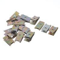 Unique Bargains Car Bronze Tone Metal Screw Base Fastener Clamp Clip x 25