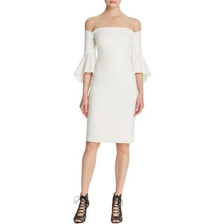 Laundry by Shelli Segal Womens Cocktail Dress Crepe Off-The-Shoulder