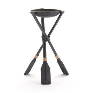 Paddle Candle Holder Black