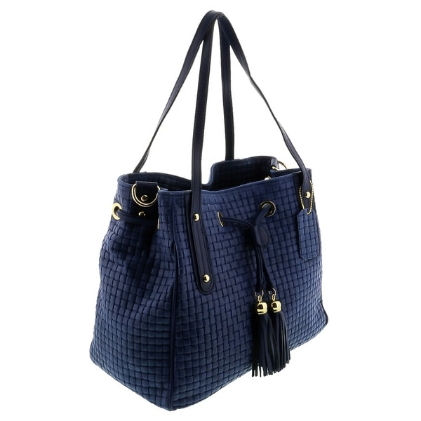 HS 2025 BL AGAPE Cobalt Blue Leather Tote/Shopper Bags - Cobalt blue - 13-11-6