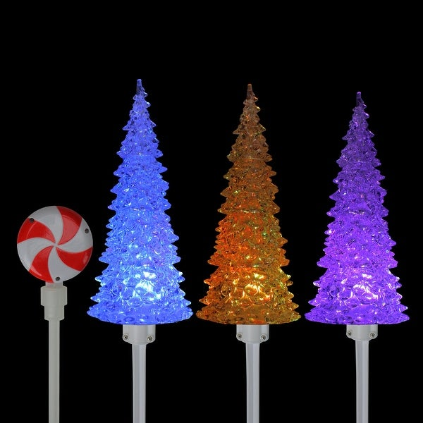 Edison Bulb Lawn Pathway Stakes Christmas Markers Lights Outdoor Decor Set of 10