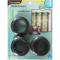 "Rustic Brown - Curtain Grommets 1-9/16"" Inner Diameter Plastic 8/Pkg"