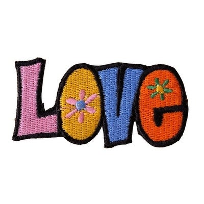LOVE Embroidered Iron On Motorcycle Biker Vest Patch P75