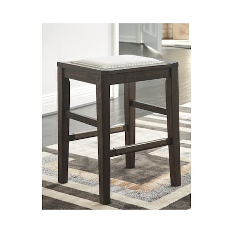 Carbon Loft Minagro Upholstered Dark Brown Stool