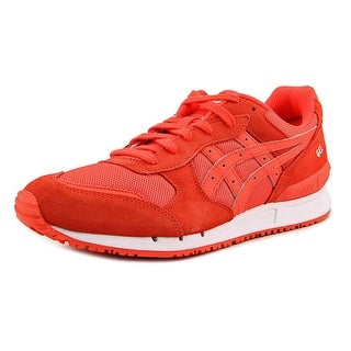 Asics Gel-Clssic Women Round Toe Suede Orange Sneakers
