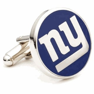 New York Giants Nickel Plated Cufflinks - navy
