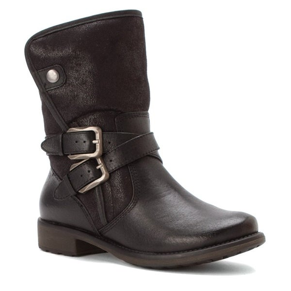 Bare Traps Womens Sabella Leather Closed Toe Ankle Fashion Boots
