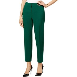 Kasper Womens Petites Kristy Dress Pants Crepe Slim Fit