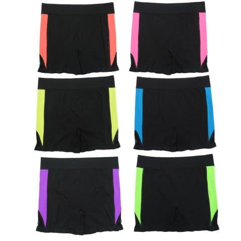 """Women's """"Biker Shorts"""" Sports Leggings (6 Pack) S/M"""