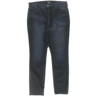 NYDJ Womens Ankle Jeans Denim Dark Wash
