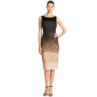 Haute HippieSilk Ombre Beaded Sleeveless Cocktail Evening Dress