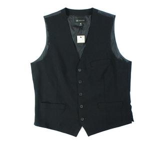 INC NEW Blue Navy Mens Size Medium M Button Down Classic Fit Vest