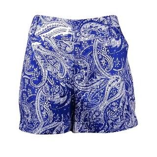 INC International Concepts Women's Printed Sateen Shorts (10, Pompous Paisley)