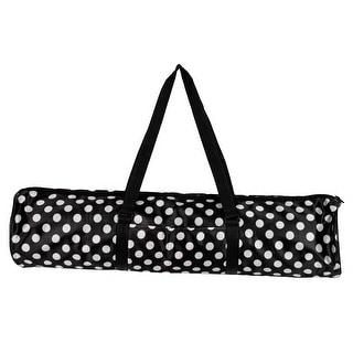 Shoulder Strape Gym Fitness Pad Carrier Yoga Pilates Mat Packing Bag Black White