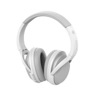 TechComm Chord Active Noise Cancelling Wireless Headphones, White