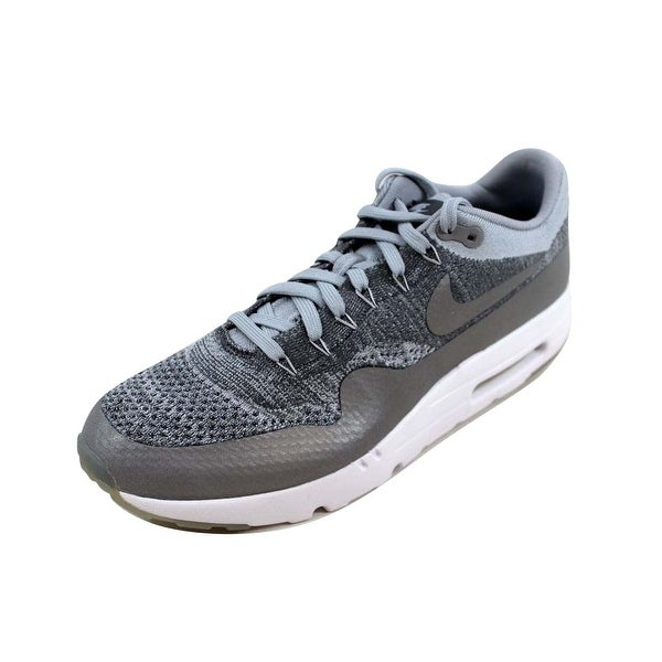 23d904cbcc6 ... Men s Athletic Shoes. Nike Men  x27 s Air Max 1 Ultra Flyknit Wolf Grey Wolf  Grey