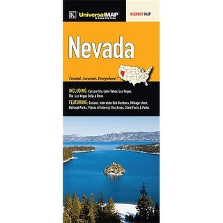 Universal Map 12716 Nevada State Regional Highway Fold Map