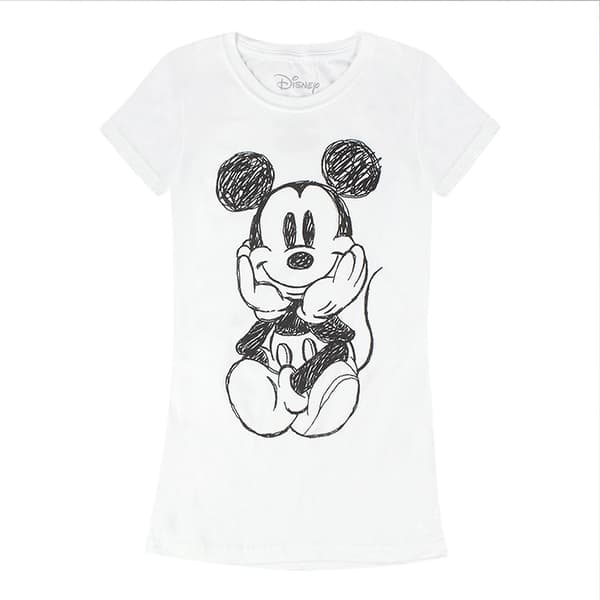 Disney Mickey Mouse Sketch Drawing Womens T-Shirt