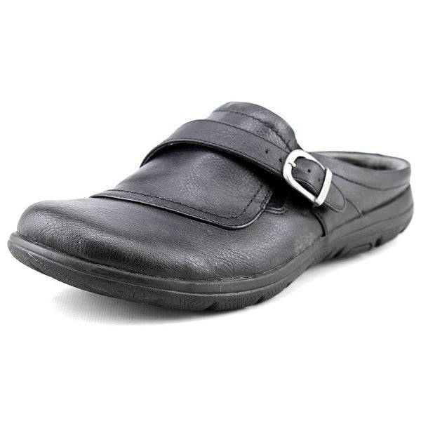 Kim Rogers Edna Women Round Toe Synthetic Black Clogs