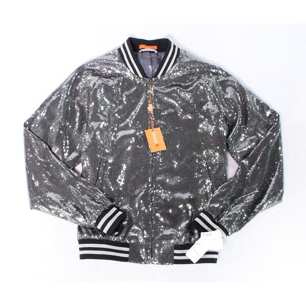 Dark Fashion Logo Mock Up: Shop Tasso Elba Mens Silver Black Size Medium M Sequin
