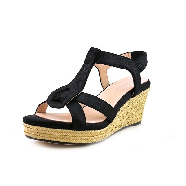 Taryn Rose Karalee Women Open Toe Leather Wedge Sandal