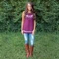 Fashion Women Summer Vest Top Sleeveless Blouse Casual Tank Tops T-Shirt Lace - Thumbnail 3