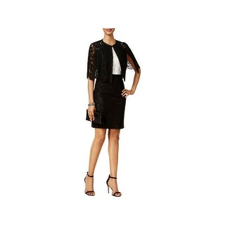 SLNY Womens Dress With Jacket Lace Colorblock