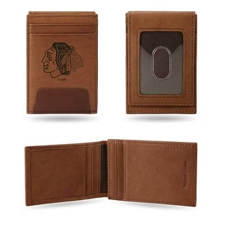 4 Brown NHL Chicago Blackhawks Front Pocket Wallet N A