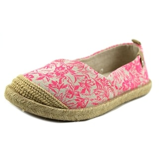 Roxy Flamenco Youth Round Toe Canvas Pink Espadrille