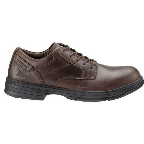 CAT Footwear Oversee Steel Toe - Dark Brown 14(M) Work Shoe