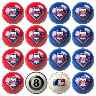 MLB Philadelphia Phillies Baseball Billiard Balls Complete Set of 16 Balls
