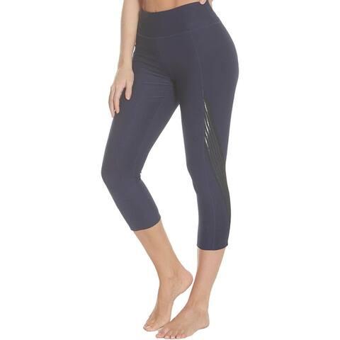 Splendid Women's Mesh Trim Activewear Capri Fitness Leggings