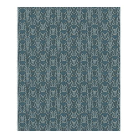 Rapin Dark Green Wave Wallpaper - 20.5 x 396 x 0.025