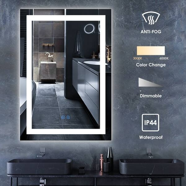 Bsle Wall Mounted Vanity Mirror Led Lighted Bathroom Mirror On Sale Overstock 32192591 24x32