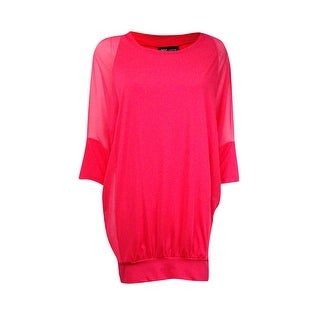 Coco Reef Women's Mesh Sleeve Banded Hem Coverup - Coral