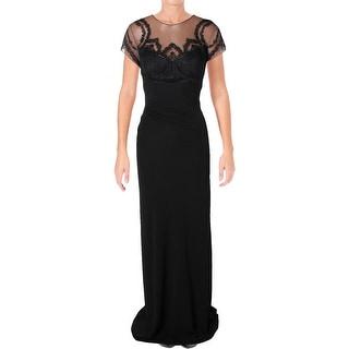 David Meister Black Evening Gown
