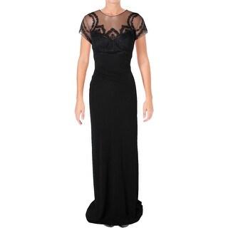 David Meister Womens Evening Dress Lace Event