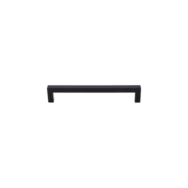 """Top Knobs M1156 Square 6-5/16"""" Center to Center Handle Cabinet Pull from the Nouveau III Series - Flat Black"""