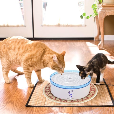 Ownpets® Automatic Cats/ Dogs Drinking Water Fountain W/ Four Filtering 3 Intelligent Working Modes & Mute Design