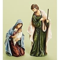"2-Piece Holy Family Religious Christmas Nativity Statues 12"" - Multi"