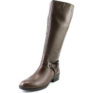 Lauren Ralph Lauren Marion Wide Calf Women Round Toe Leather Knee High Boot