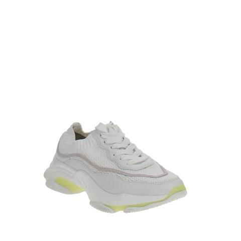 Aqua Mack Lace-Up Knit Sneakers White Multi