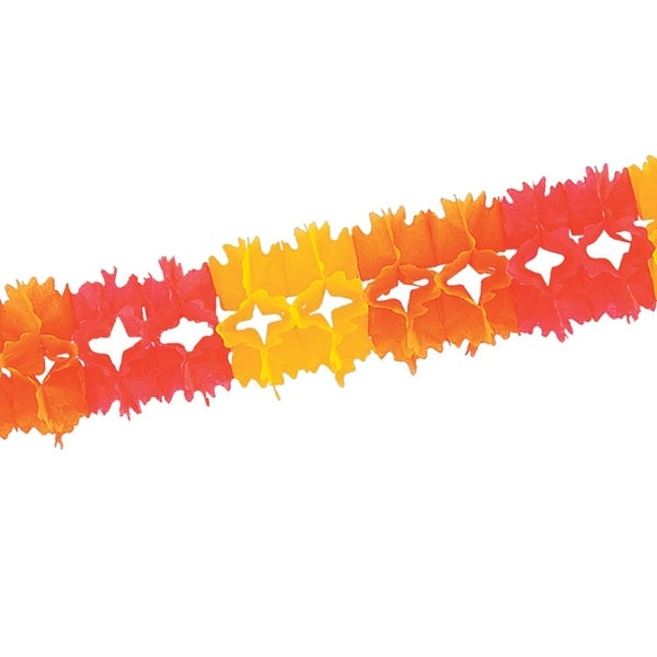 Club Pack of 12 Golden Yellow, Orange and Red Festive Pageant Garland Decorations 14.5'